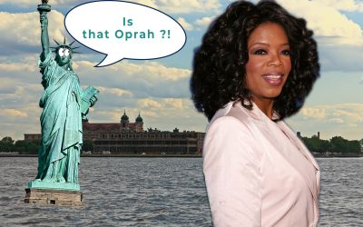 AMC Teleprompts: Oprah Awarded at the Statue of Liberty Museum Opening!