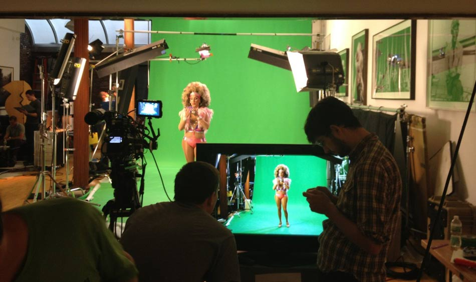 Drag Queen On Green Screen