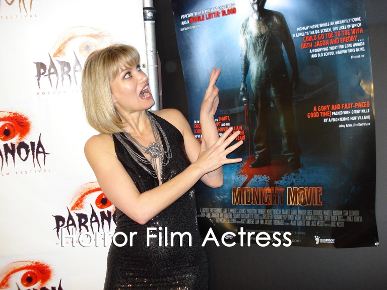 Rena Riffel at the Paranoia Horror Film Festival.