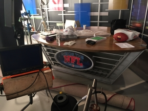 nfl desk in studio