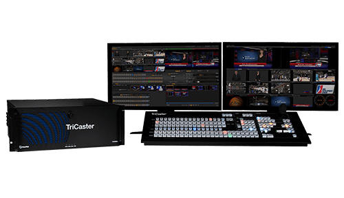 Rent a TriCaster 855 for your medium to large scale live broadcasting or live WebCasting production.
