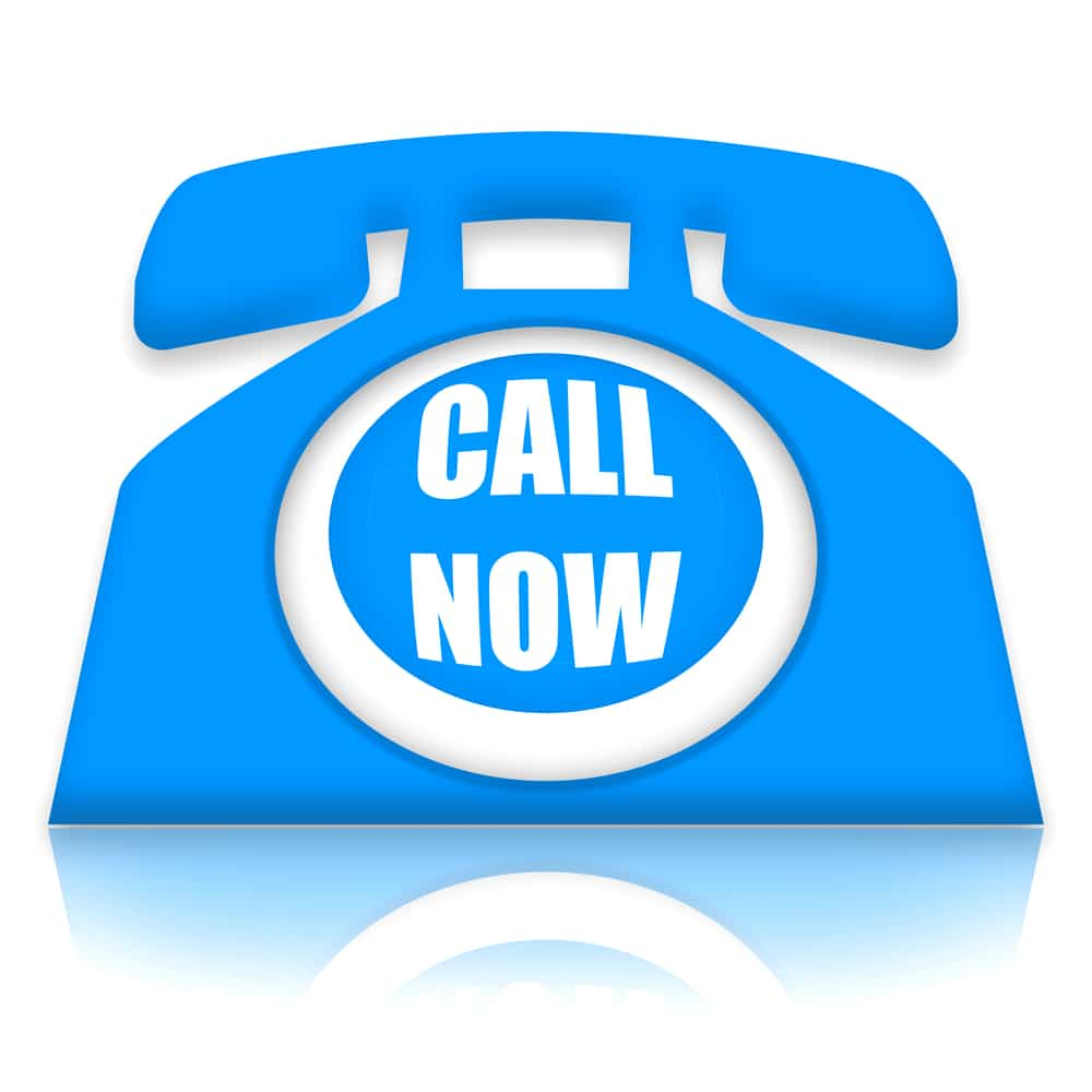 Blue Telephone Icon Call Now