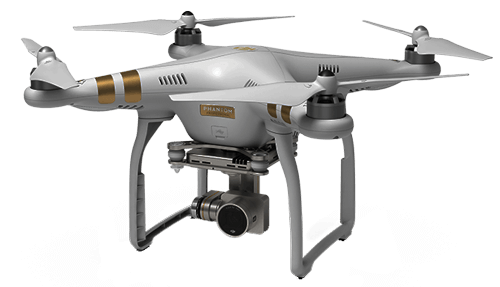 Graphic of our DJI Phantom 3 in flight!