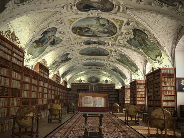 old-architecture-libary-virtual-stage-set