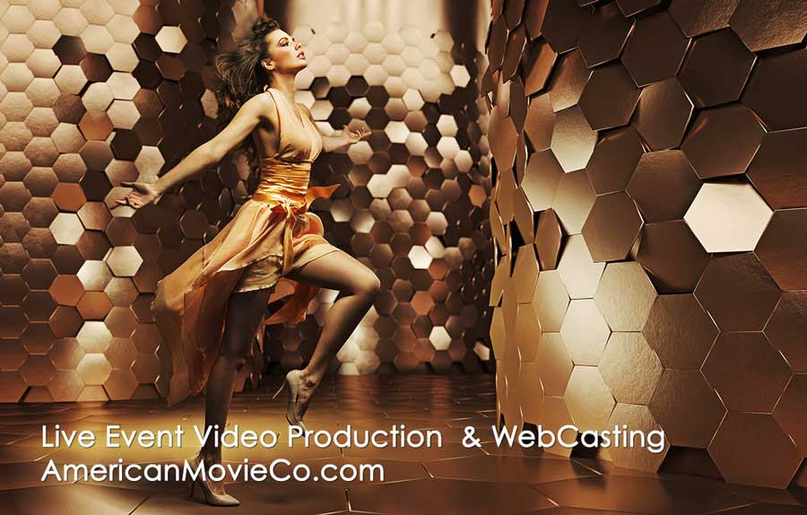 woman-in-gold-being-filmed-live-event-video