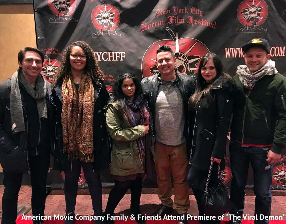 AMC crew and friends at premiere of The Viral Demon