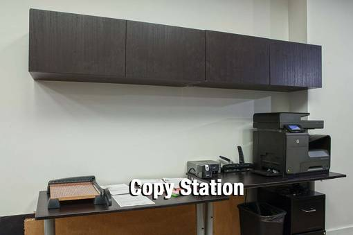 Copy Station - wall cabinets