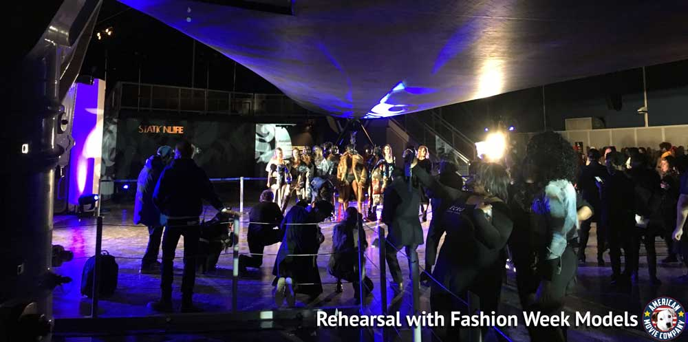 Rehearsal with fashion week models