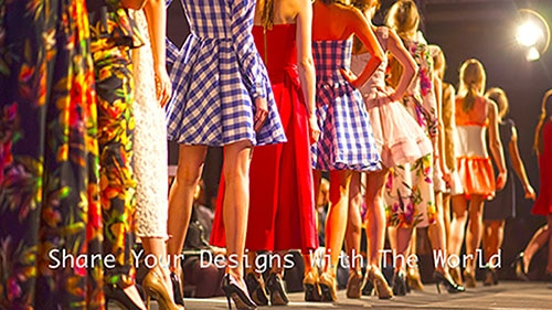 women in file - colorful dresses - Share Your Designs With the World