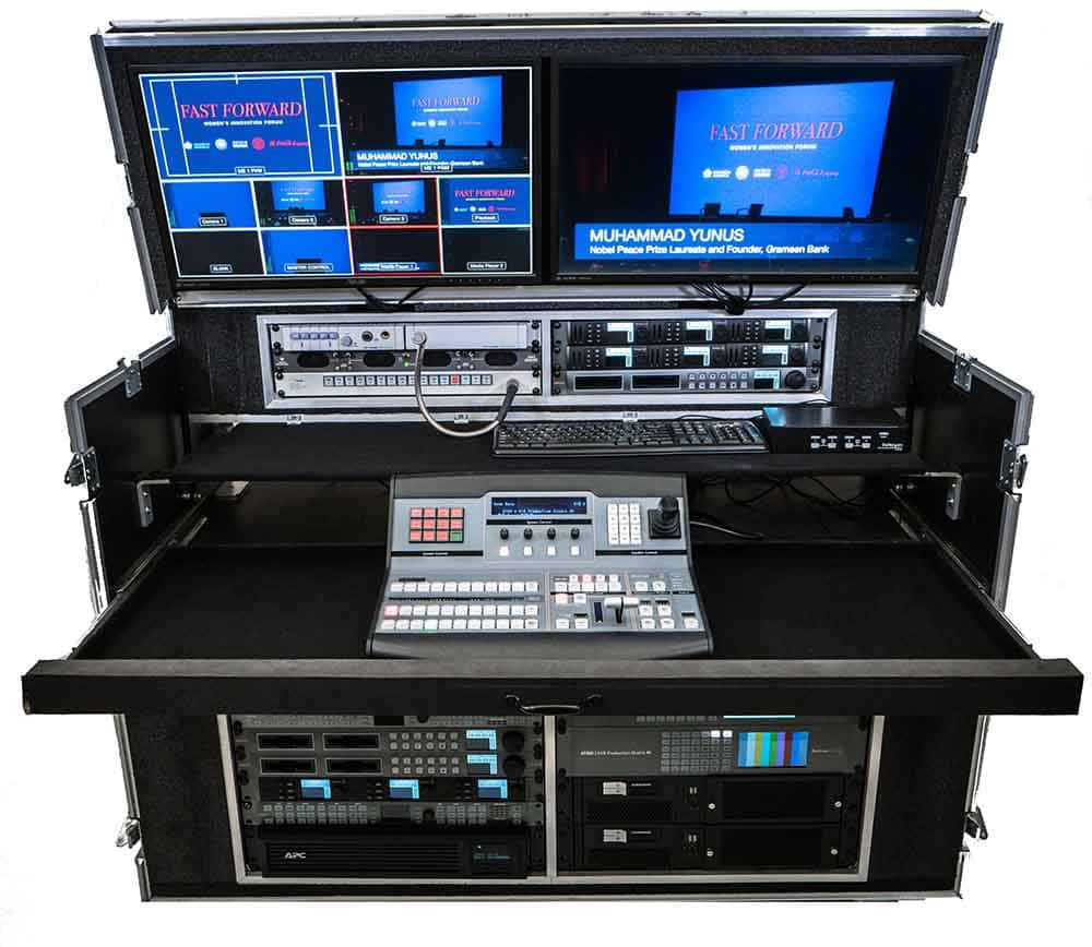 Devin's Premium Flypack lage console with livestream webcasting encoders etc.
