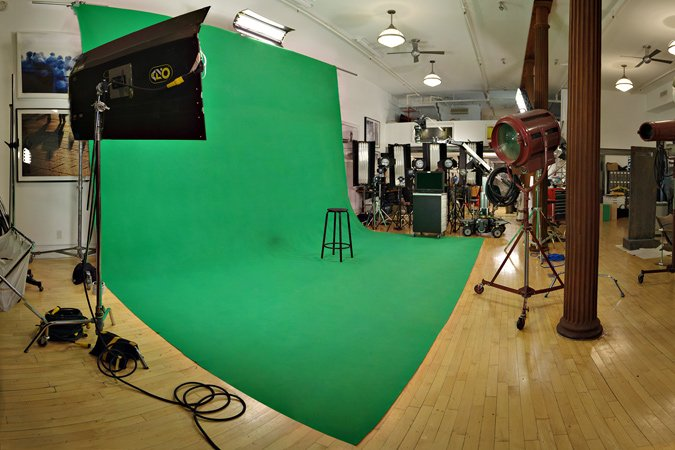 Green screen Sound Stage - wide view