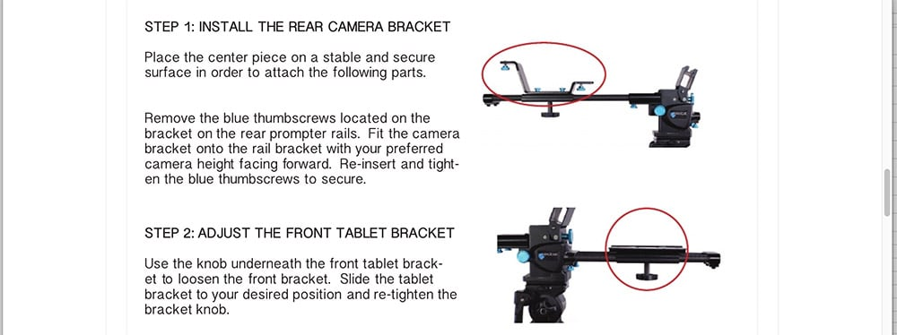 IPad Prompter assembly instructions part one