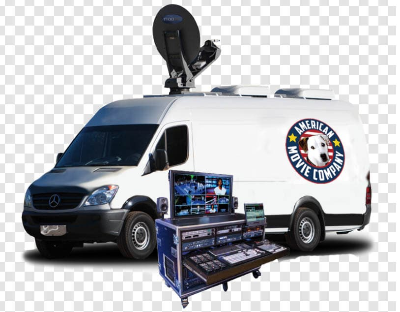 American Movie Company Sprinter Van with LiveStream Flypack.