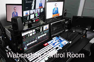 Image WebCasting control room with Tricaster 8000