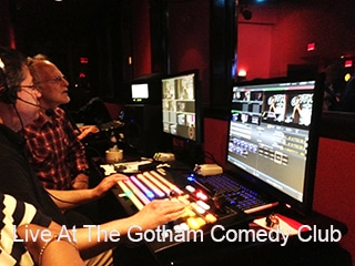 Picture of (320) Backstage at the Gotham Comedy Club with Tricaster and operator in foreground