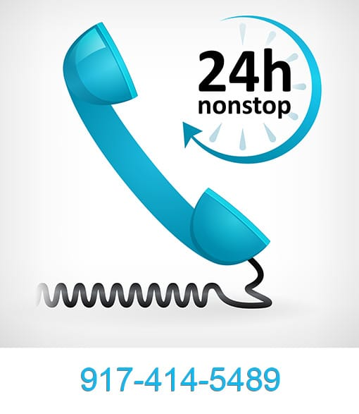 Blue Phone Icon with 917-414-5489