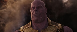 Thanos Villain from Infinity Wars: Face