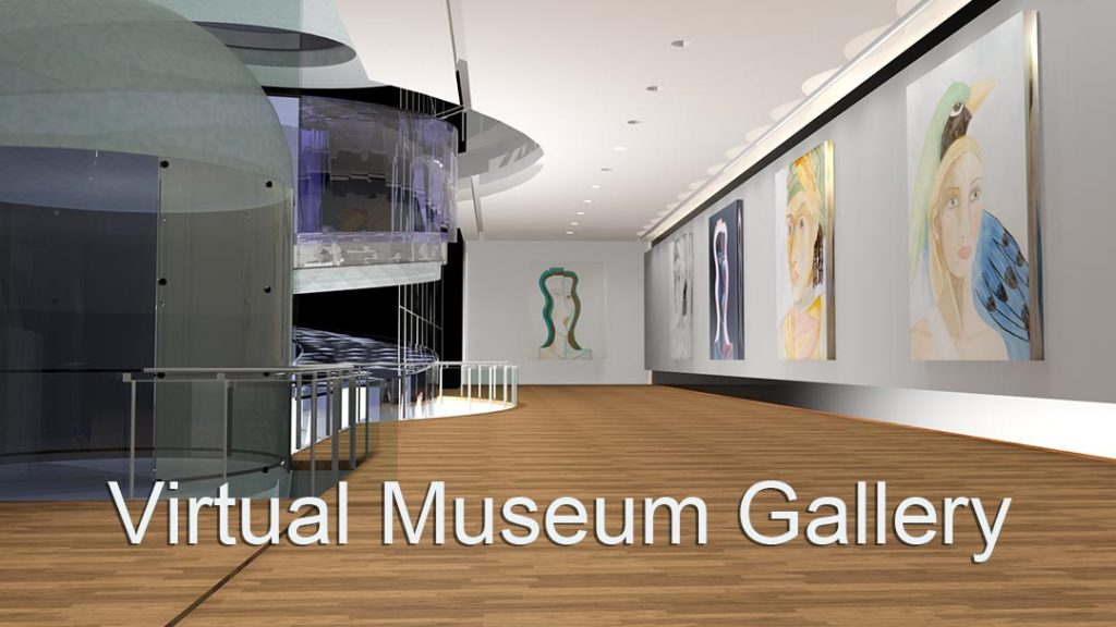 Virtual Museum Gallery with Paintings