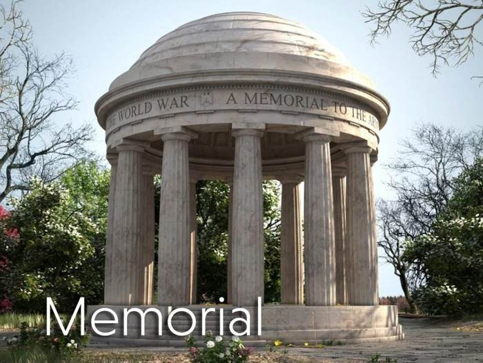 3d Virtual Set - World War Memorial - Structure outdoors