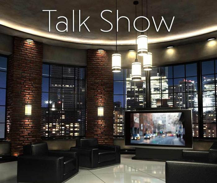 3D Talk Show 2 - Virtual Set