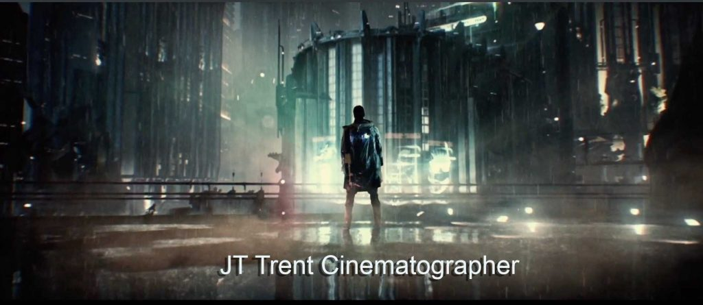 Alien Planet with man with his back to us . JT Trent