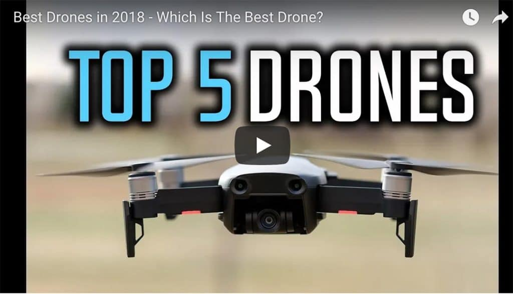 """Image of drone with title """"Top 5 Drones"""""""