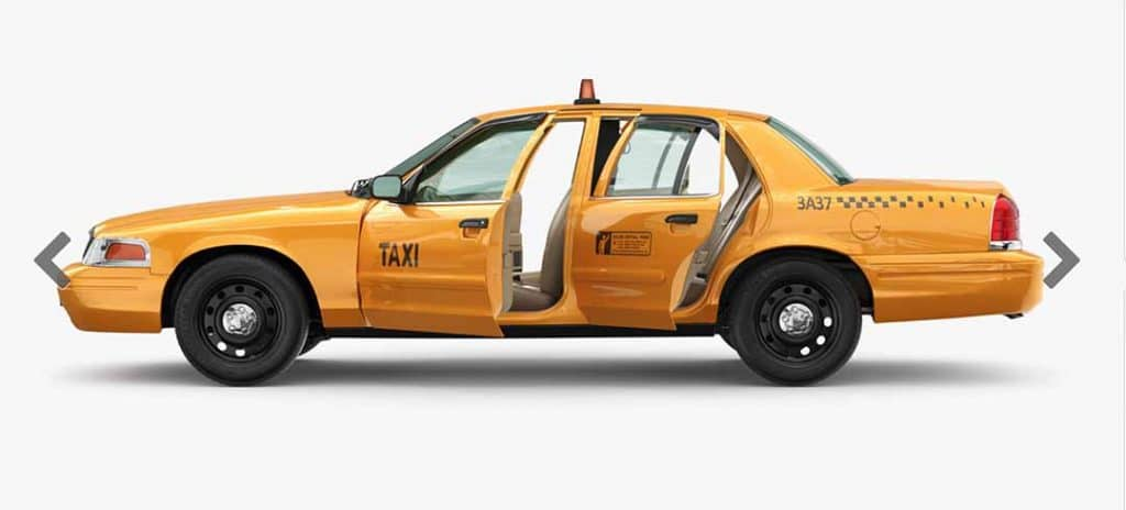 YellowVirtual Sets: 3D/4K Yellow Cab Cab Side View Driver's side