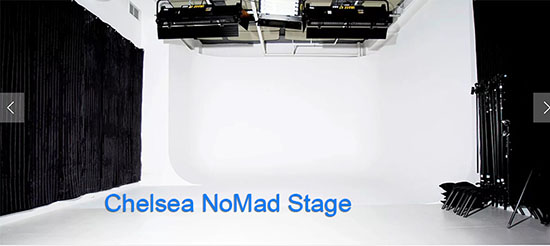 Chelsea NoMad Stage- White Cyc stage