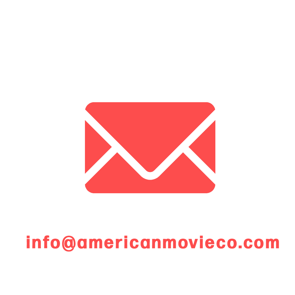Email Info@americanmovieco.com red envelope icon