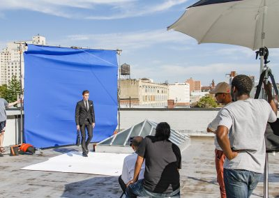 Rooftop photoshoot Downtown Brooklyn.