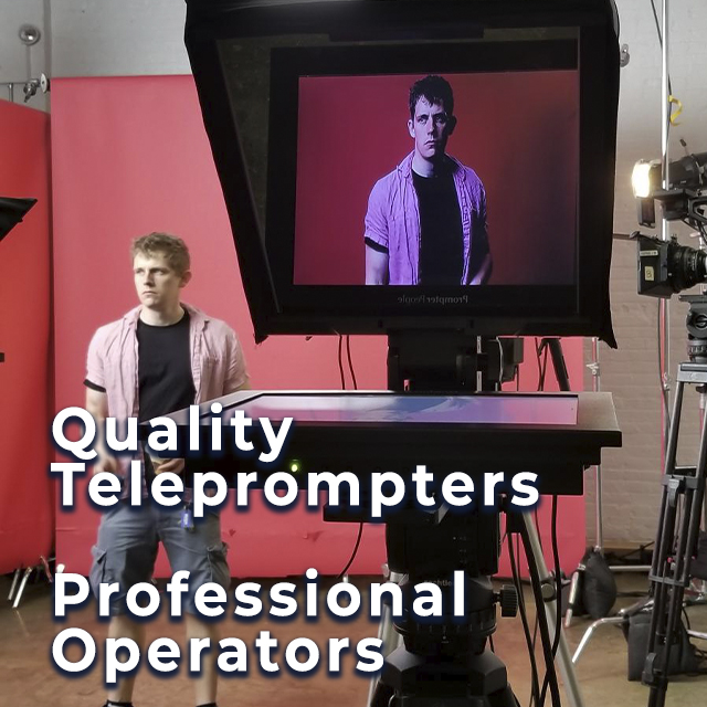 American Movie Company Teleprompter Rental Service, Interrotron Rental, Professional Teleprompter Operators.
