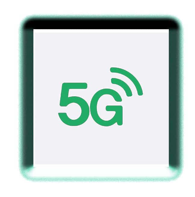 5g icon in green