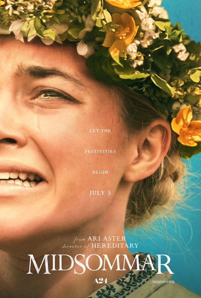 IMDB Poster for MidSommar - woman with flower garland in hair