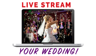 WebCast: Live Stream Bride and groom dance on their wedding day.