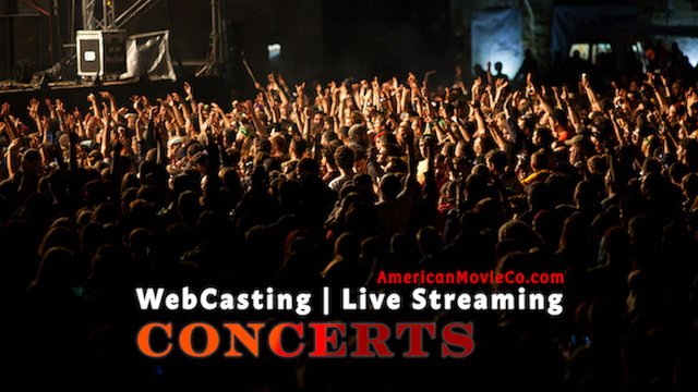 WebCasting Live streaming Concerts - Wild crowd at concert.