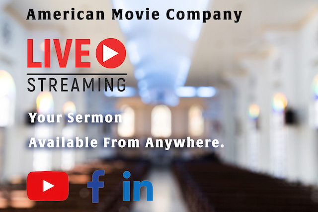 WebCasting, Sermon Live Streamed to Facebook, Youtube  or any social media page.